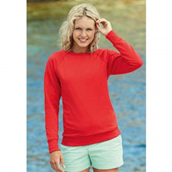 Felpa Raglan Leggera Lightweight Donna - Fruit of the Loom